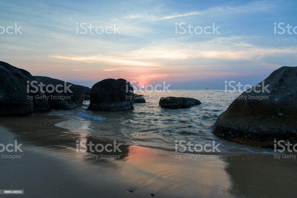 beach sunset royalty-free stock photo