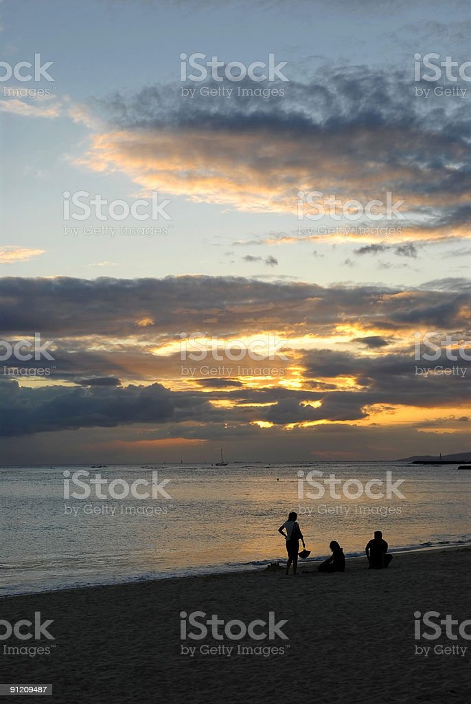 Beach Sunset royalty-free stock photo