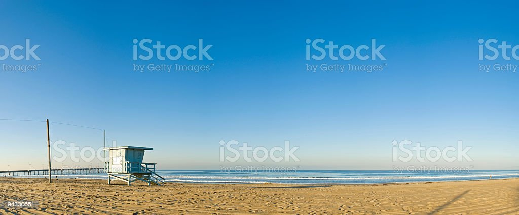 Beach, surf, pier stock photo