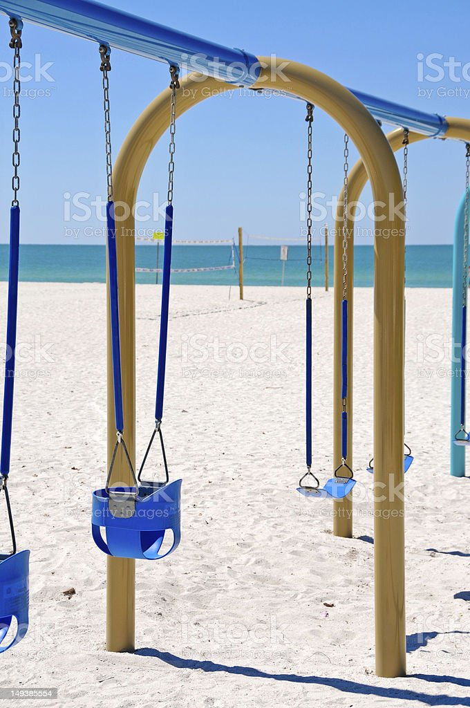 Beach Swing stock photo