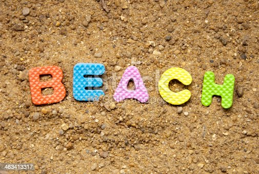 500536143istockphoto beach symbol and sand background 463413317