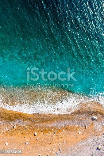 999001484 istock photo Beach taken from air 1135723406