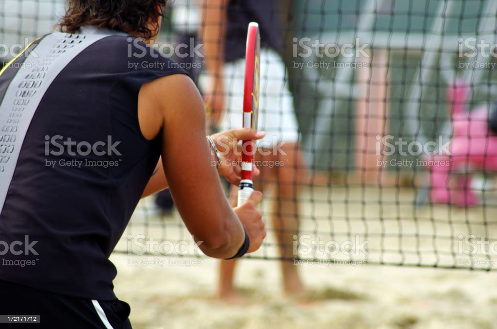 beach tennis - 2 stock photo