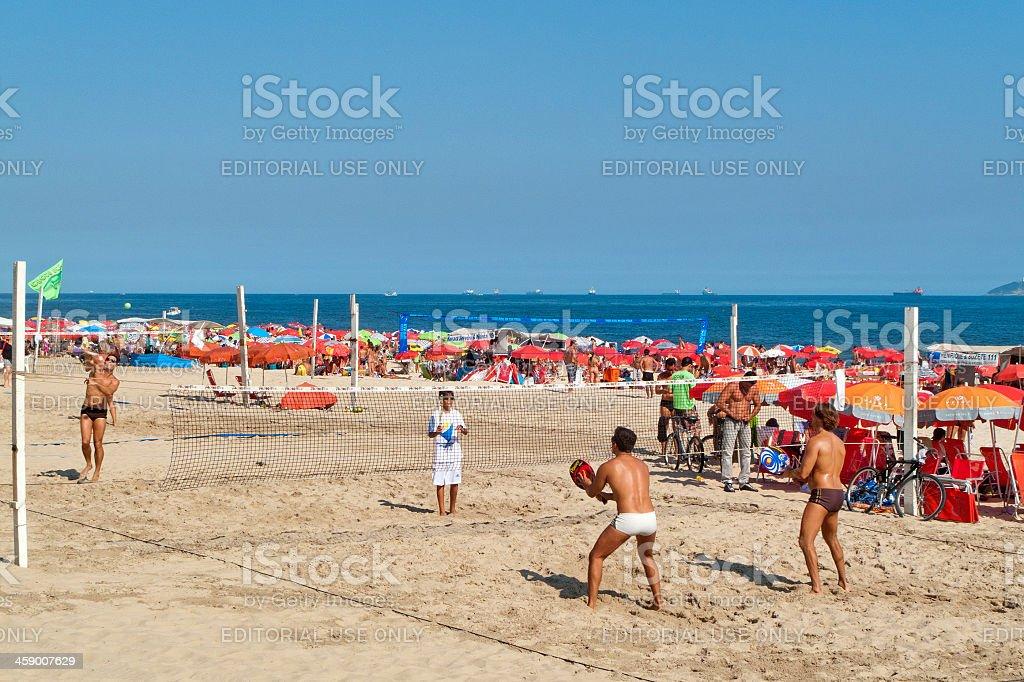 Tennis in spiaggia di Ipanema - foto stock