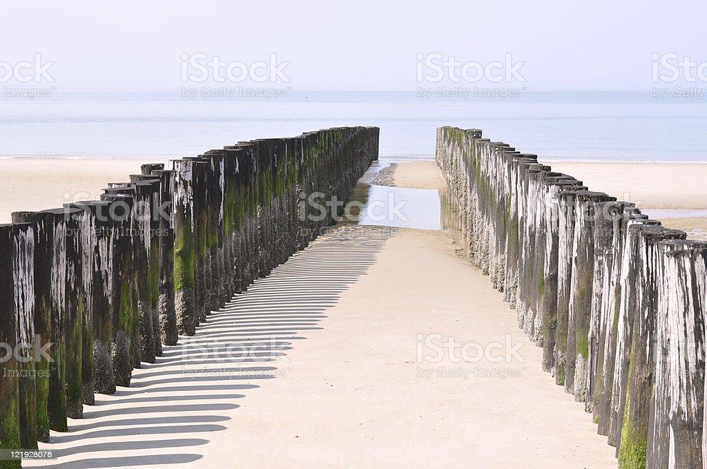 Beach - The Netherlands stock photo