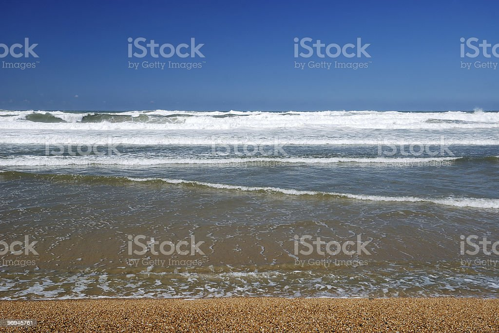 Beach Tides and Clear Skies royalty-free stock photo