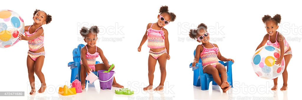 Beach time fun stock photo