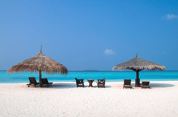 Beach Time under Parasols