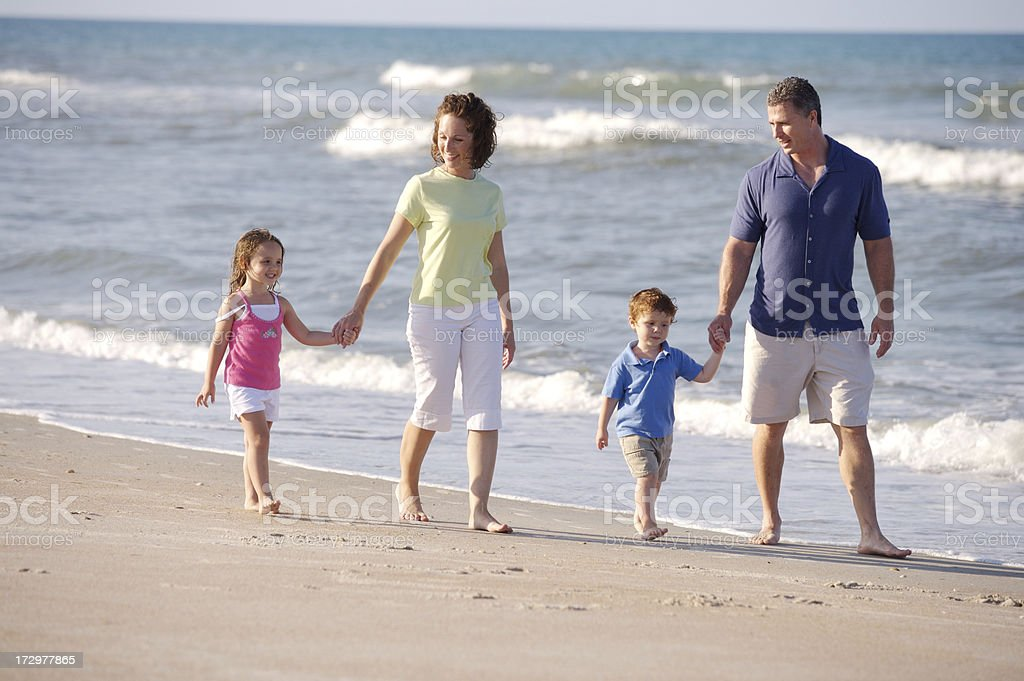 Beach time with family royalty-free stock photo