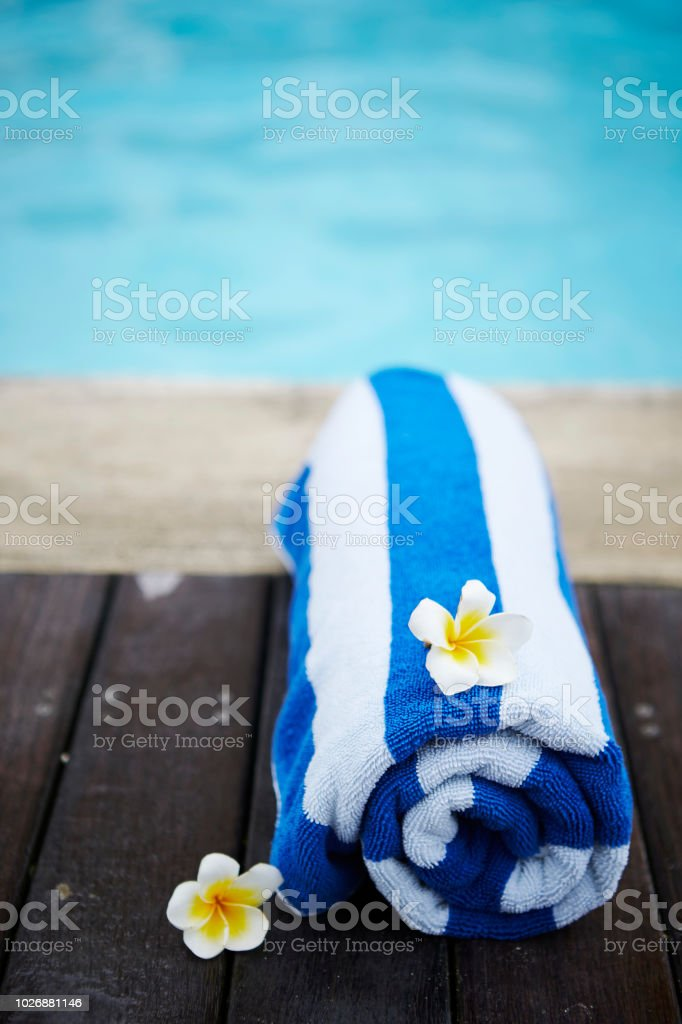 Beach towel with flowers