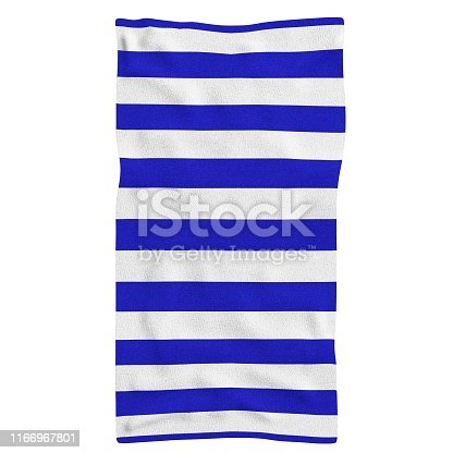 3D rendering illustration of a beach towel