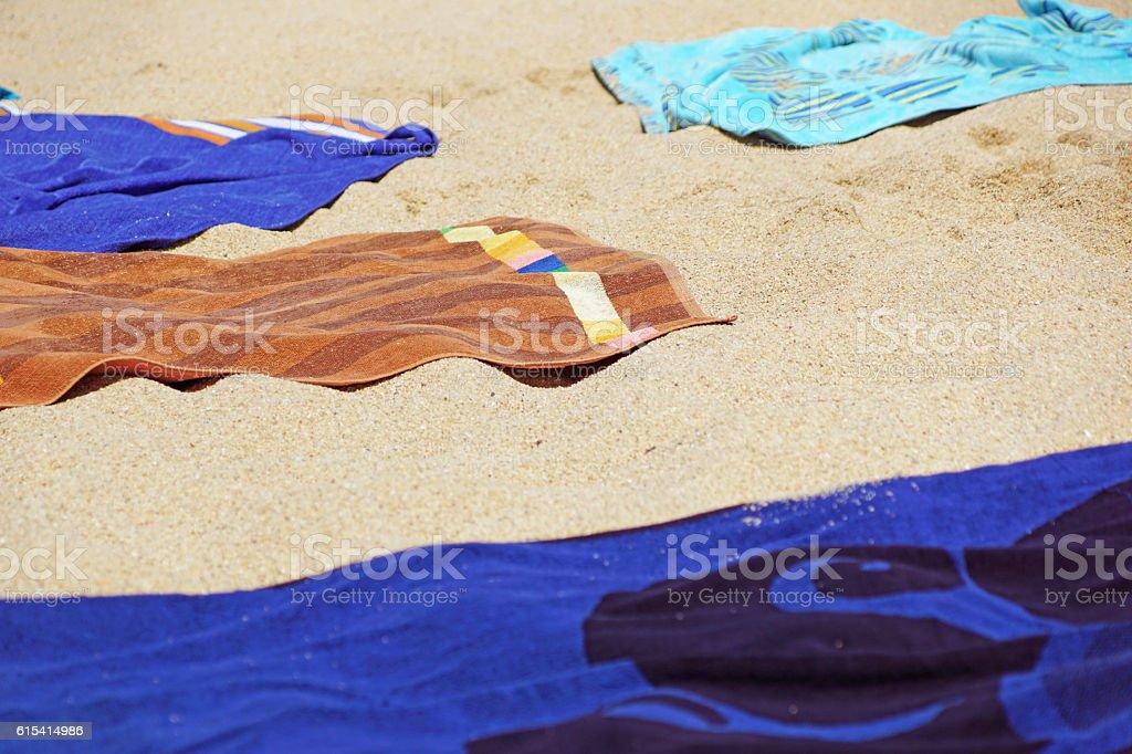beach towel stock photo