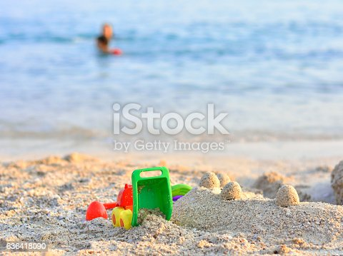 512726470 istock photo Beach Toys in the Sand 636418090