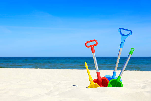 Beach toys stock photo