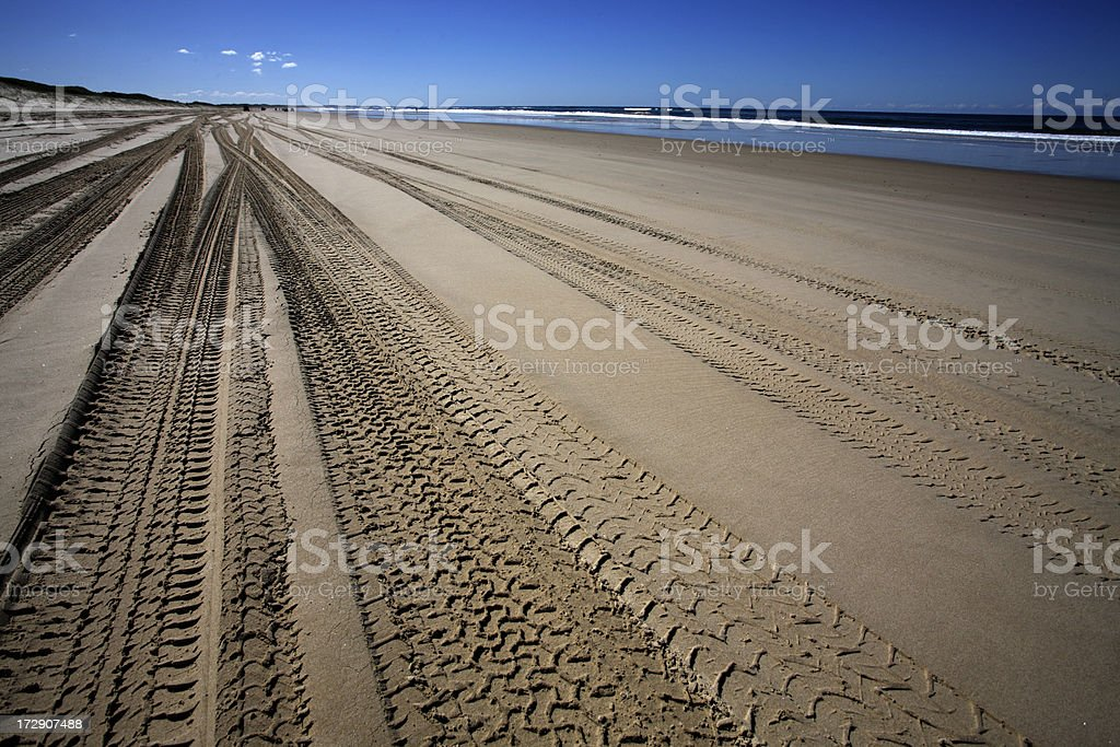Beach Tracks 4WD royalty-free stock photo