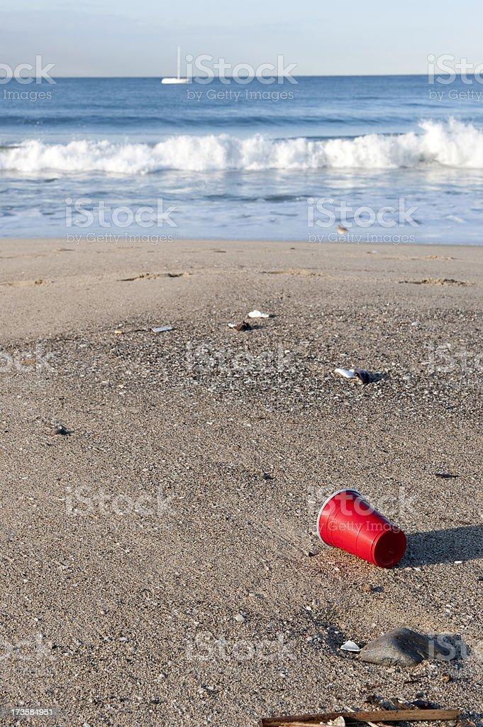 Beach Trash stock photo