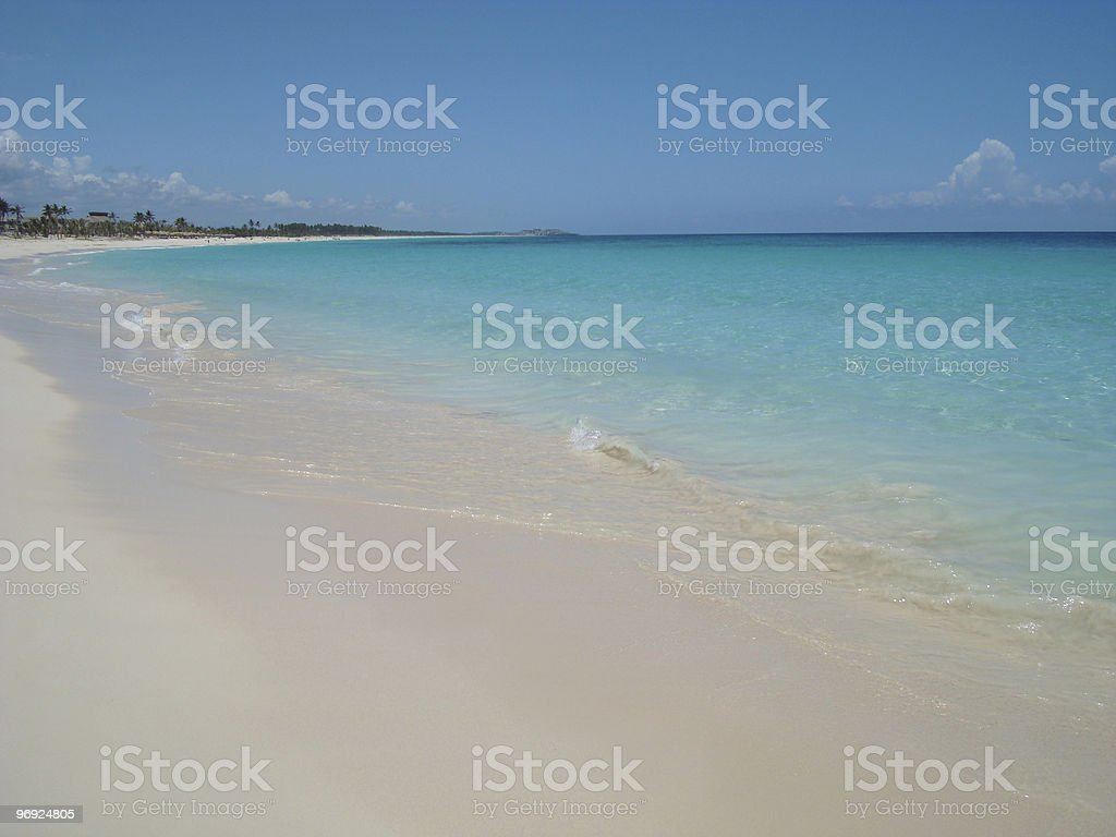 Beach Tropical Dominican Republic royalty-free stock photo