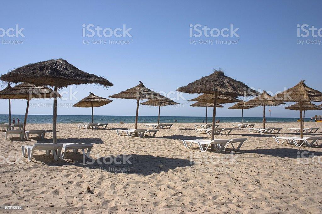 Beach, Tunisia royalty-free stock photo