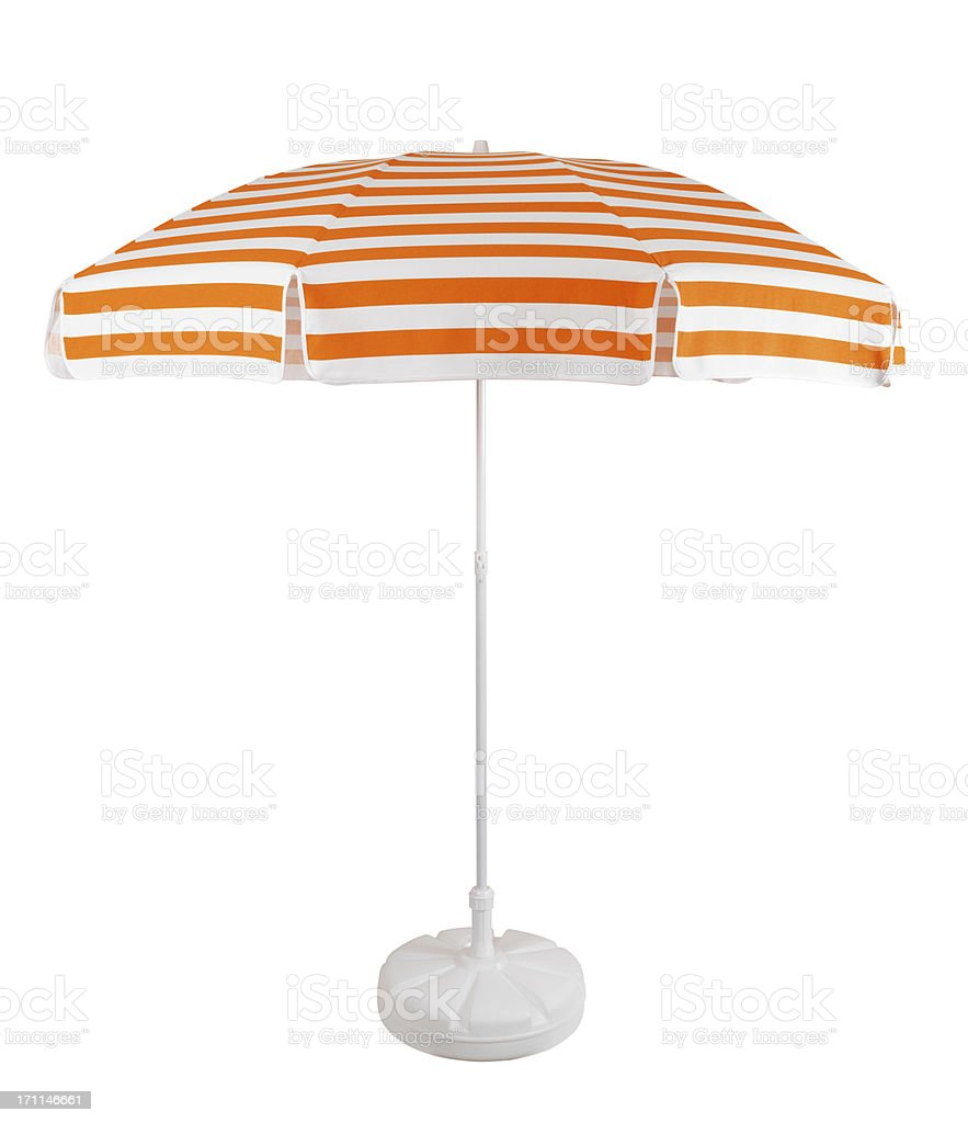 Beach Umbrella +Clipping Path (Click for more) stock photo