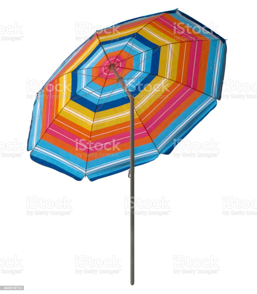 Beach umbrella - colorful stock photo
