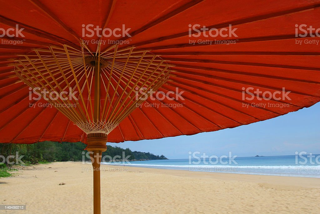 beach umbrella in phuket royalty-free stock photo