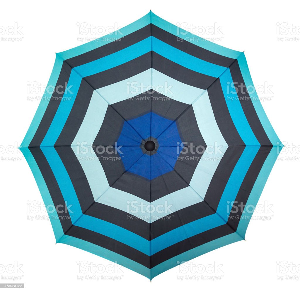 Beach umbrella - top view stock photo