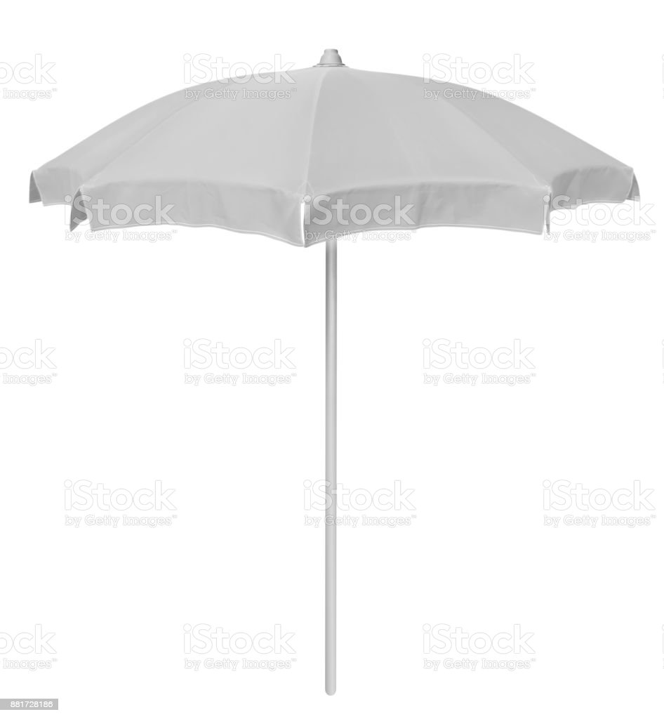 Beach umbrella - white stock photo
