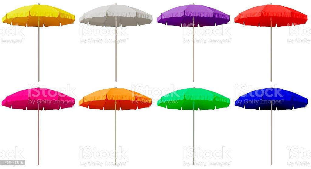 Beach umbrellas - colorful stock photo