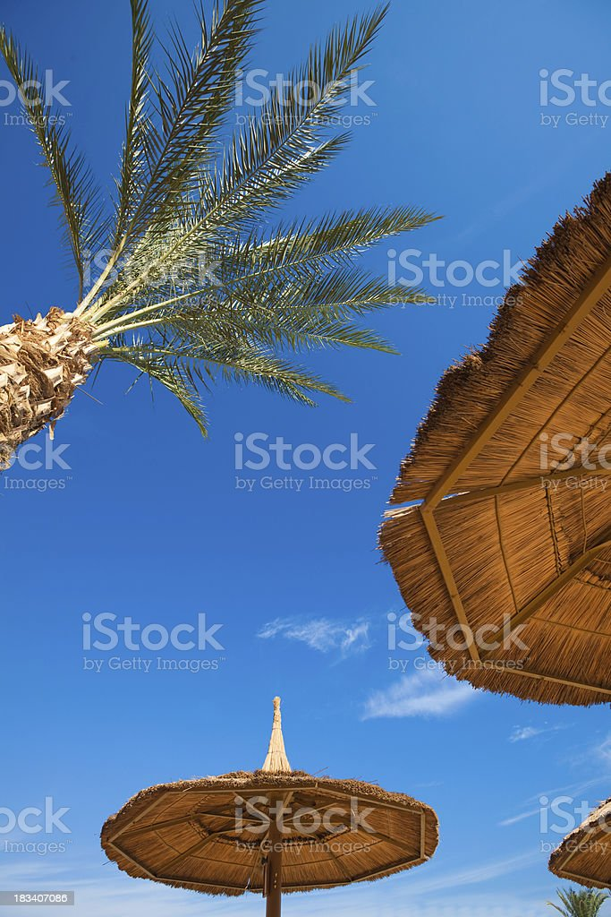 Beach Umbrellas royalty-free stock photo