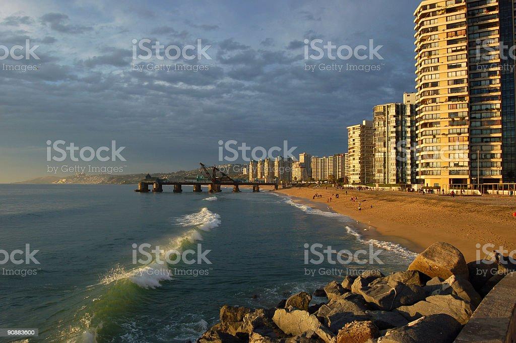 Beach, Viña del Mar stock photo
