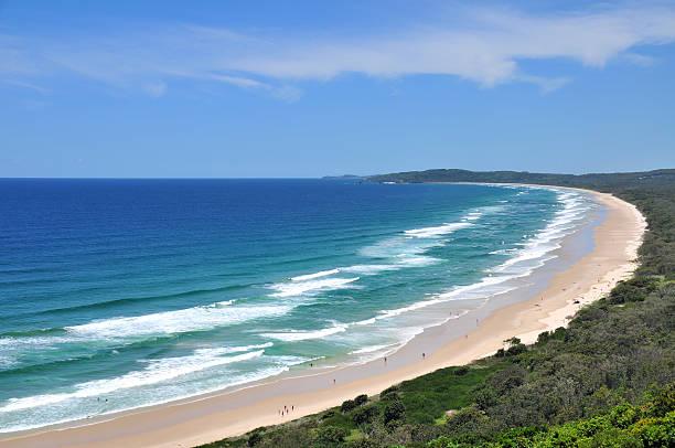 Beach view at Byron Bay stock photo