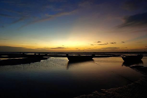 Beach view at dusk