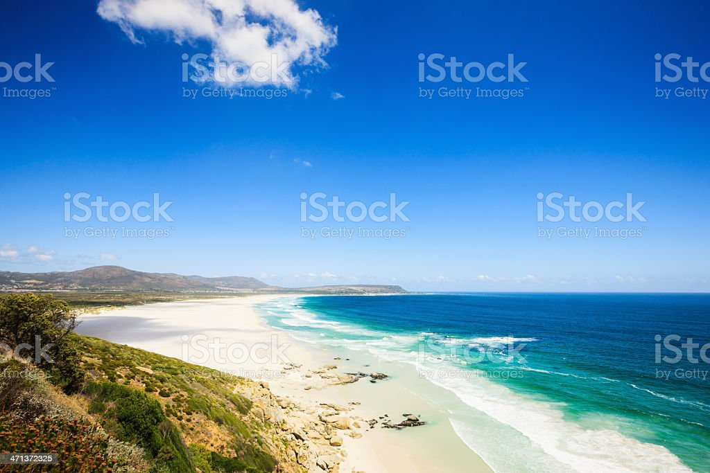 Beach View Chapman's Peak Drive Cape Town South Africa stock photo