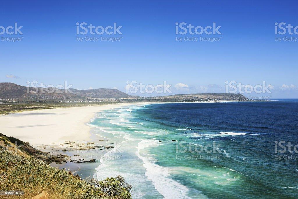 Beach View Chapman's Peak Drive Natural Coastline Cape Town stock photo