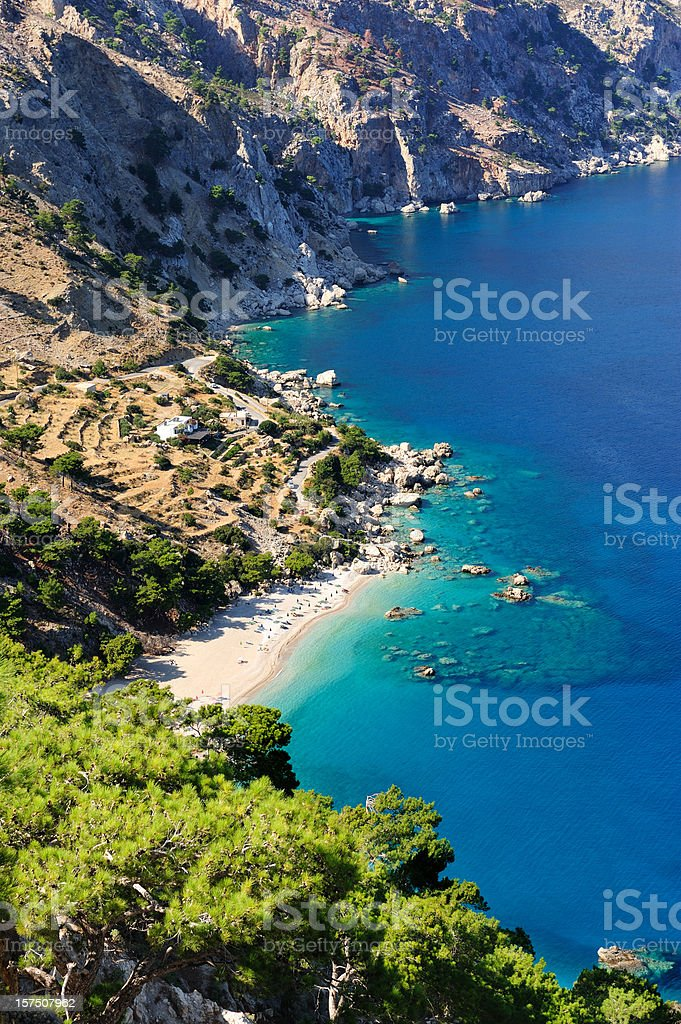 Beach view from top of mountain royalty-free stock photo