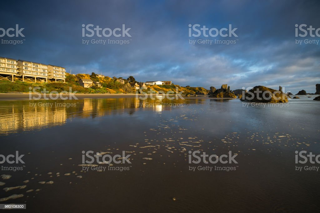 Beach View Homes stock photo