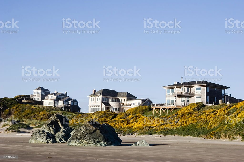 Beach View Homes royalty free stockfoto