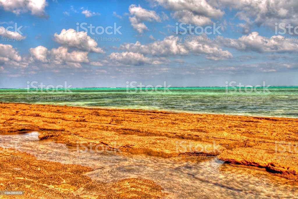Beach view of Marsa Alam Red Sea, Egypt stock photo