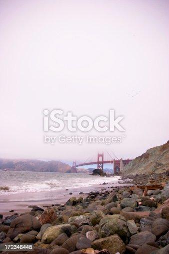 Beach View of the Golden Gate Bridge