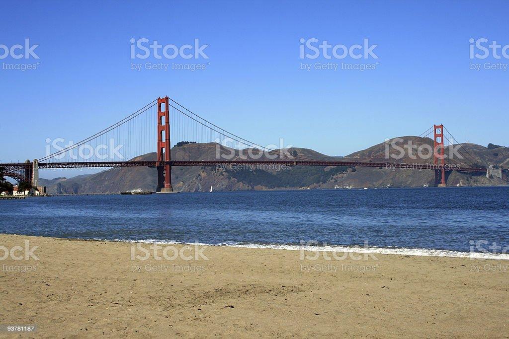 Beach View of the Golden Gate Bridge royalty-free stock photo