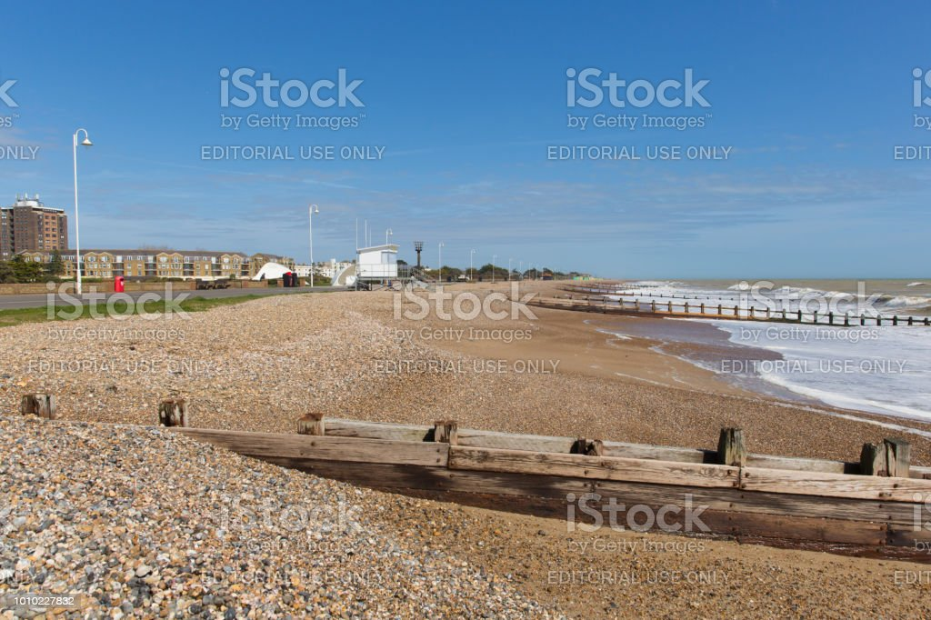 Beach view to the east Littlehampton West Sussex – zdjęcie