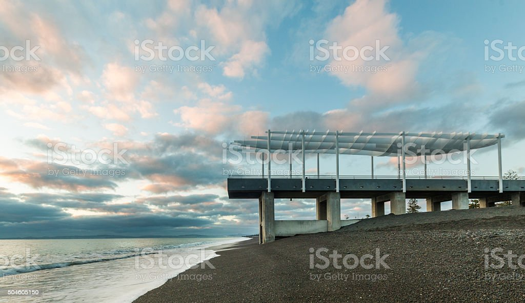 Beach Viewing Platform stock photo