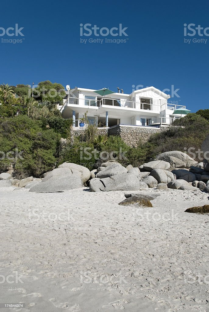 Beach villa stock photo