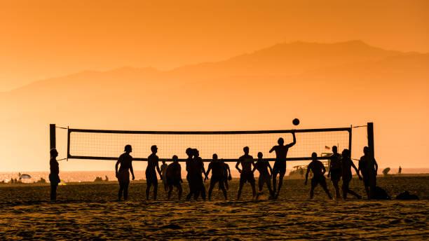 Beach Volley at Venice Beach stock photo