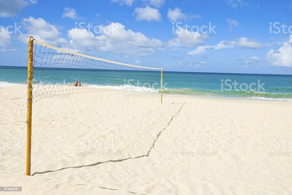 Beach Volley Ball court royalty-free stock photo