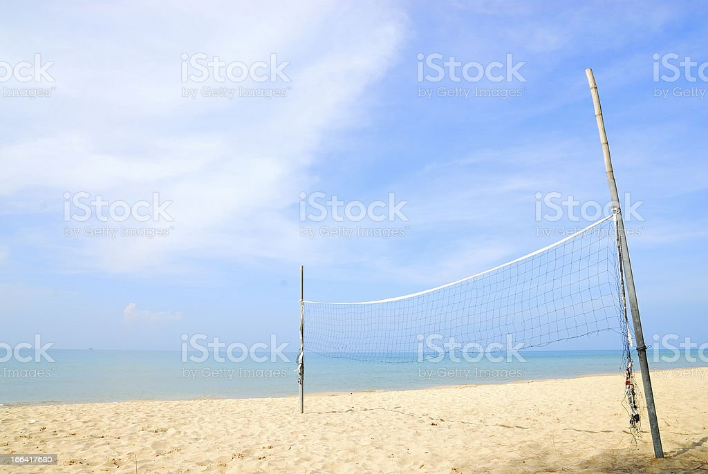beach volleyball court royalty-free stock photo