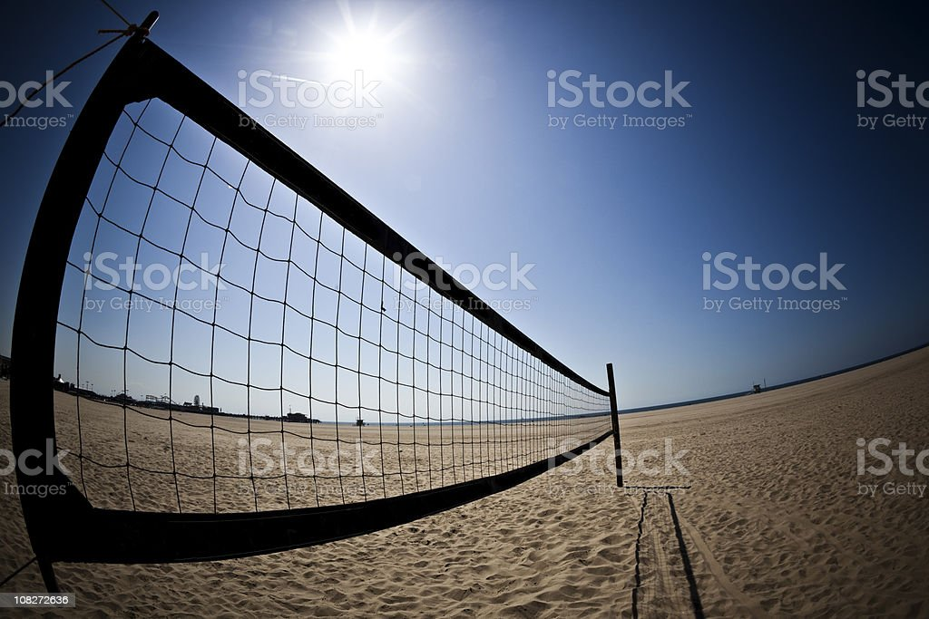 Beach Volleyball Field on Sunny Day royalty-free stock photo