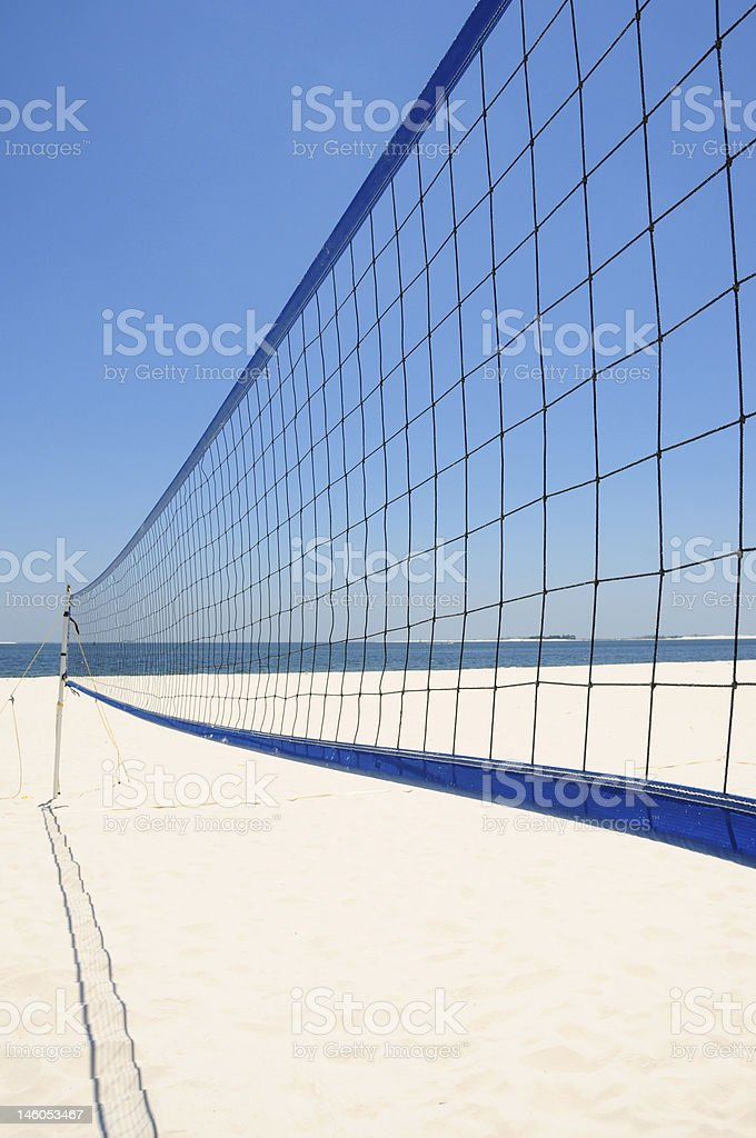 Beach Volleyball Net royalty-free stock photo