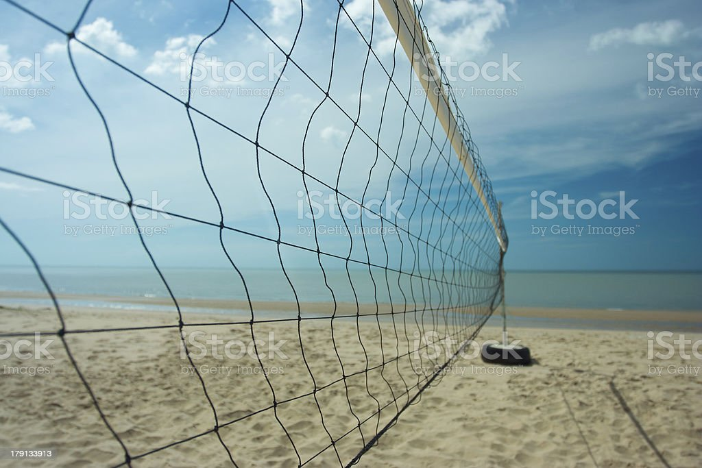 Beach volleyball net with clearly sky royalty-free stock photo