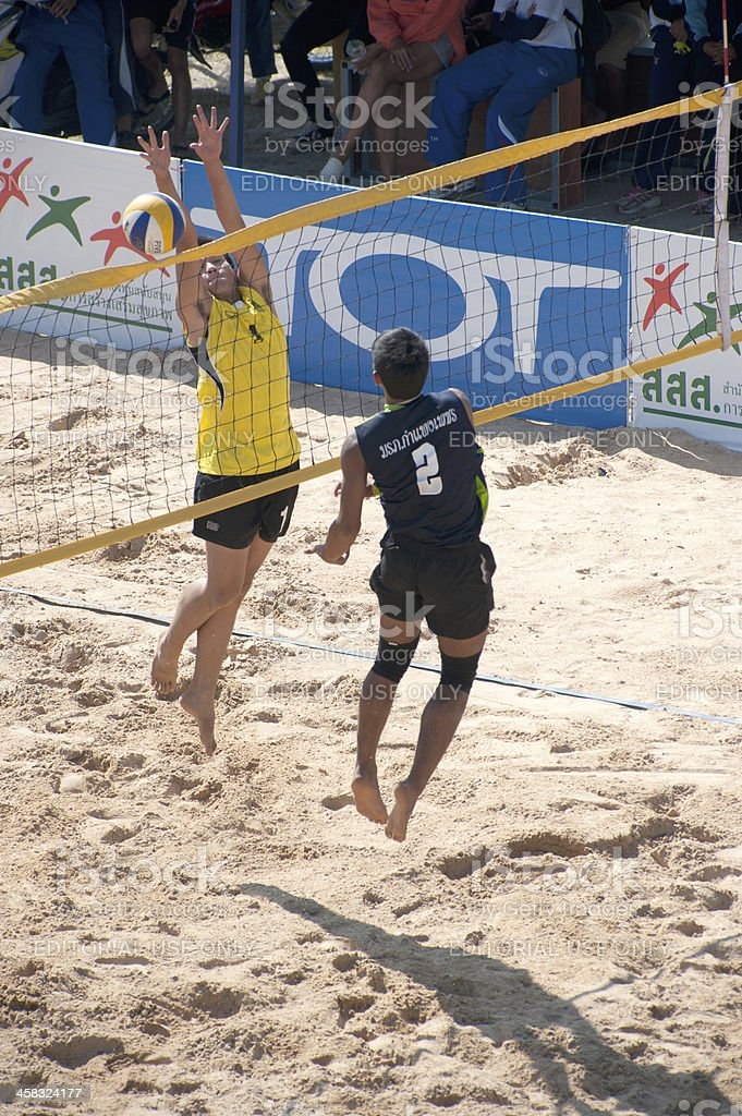 Beach volleyball of 40th.Thailand University Games. royalty-free stock photo